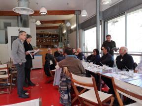 Serge Castillon, Directeur des routes départementales au département et Agnès Legendre directrice du CAUE